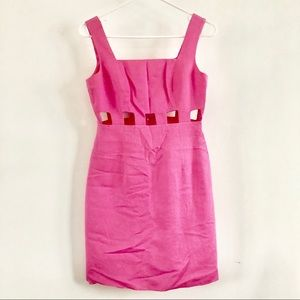 Southern Charm Pink Laundry Cut Out Dress WOW 🎀